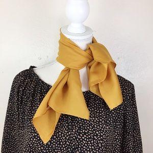 100% Silk Yellow Gold Neck & Hair Scarf